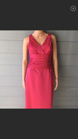 David's Bridal Pink Size 6 Silk Straight Dress on Queenly