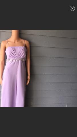 Queenly size 00 Juliet Purple Straight evening gown/formal dress