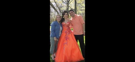 Queenly size 6 Tony Bowls Orange Ball gown evening gown/formal dress