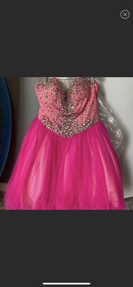 Terani Couture Pink Size 4 A-line Dress on Queenly