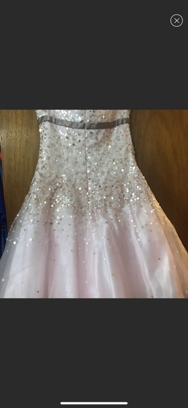 Tony Bowls Pink Size 4 Jewelled Strapless Sequin A-line Dress on Queenly