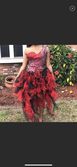 Queenly size 0 Panoply Red Cocktail evening gown/formal dress