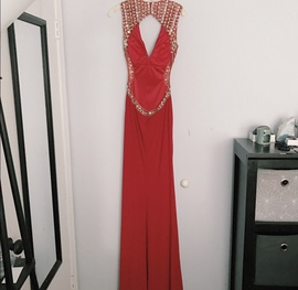 Tony Bowls Red Size 4 Jewelled Sequin Side slit Dress on Queenly
