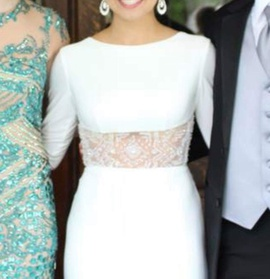 Sherri Hill White Size 2 Train Dress on Queenly