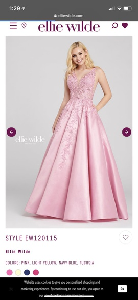 Queenly size 18 Ellie Wilde Pink Ball gown evening gown/formal dress