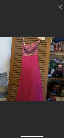 Tony Bowls Pink Size 10 Strapless Straight Dress on Queenly