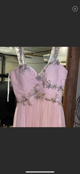 Queenly size 10 Dave & Johnny Pink Straight evening gown/formal dress