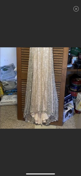 Alyce Paris Gold Size 4 Jewelled Sequin Train Dress on Queenly