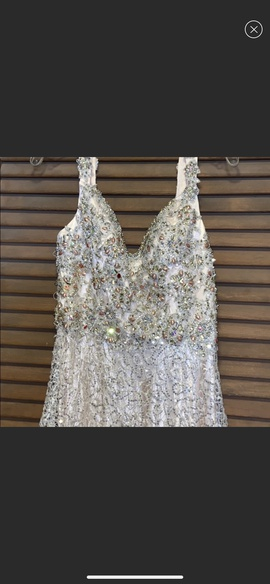 Queenly size 4 Alyce Paris Gold Train evening gown/formal dress