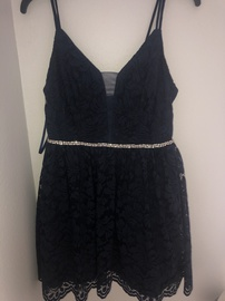 Dillards Blue Size 10 Homecoming Straight Dress on Queenly