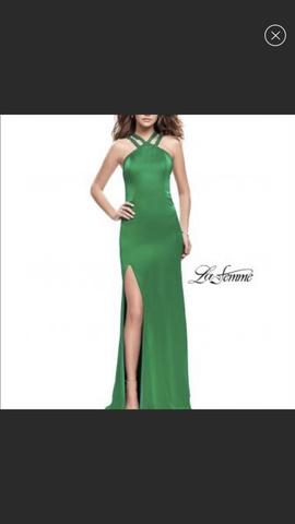 Queenly size 2 La Femme Green Side slit evening gown/formal dress