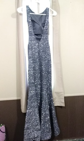 Jovani Silver Size 0 Straight Dress on Queenly