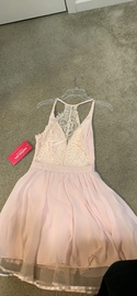 maniju Pink Size 2 Lace Cocktail Dress on Queenly