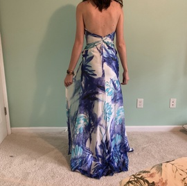 Tony Bowls Multicolor Size 4 Print Tall Height Floral A-line Dress on Queenly