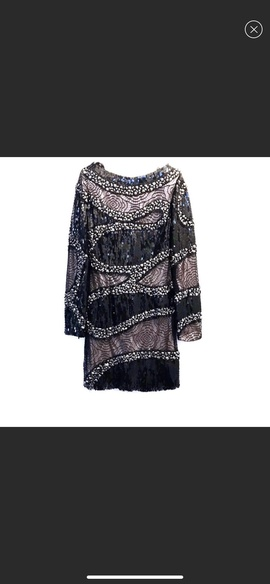 Jovani Black Size 2 Long Sleeve Nude Cocktail Dress on Queenly