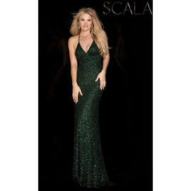 Queenly size 12 Scala Green Mermaid evening gown/formal dress