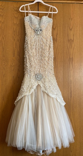 Sherri Hill Nude Size 0 Sequin Mermaid Dress on Queenly