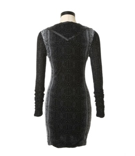 Guess Black Size 12 Long Sleeve Plus Size Cocktail Dress on Queenly