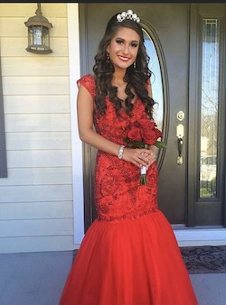 Sherri Hill Red Size 0 Mermaid Dress on Queenly