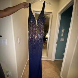 Tony Bowls Blue Size 6 Backless Train Dress on Queenly
