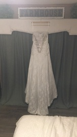 White Size 2 Train Dress on Queenly