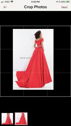 Rachel Allan Red Size 2 Pageant Train Dress on Queenly