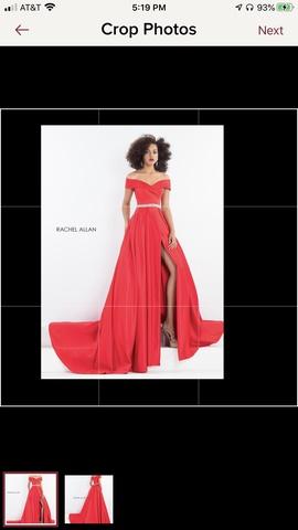 Queenly size 2 Rachel Allan Red Train evening gown/formal dress