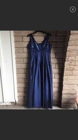 Calvin Klein Blue Size 8 Flare Sequin A-line Dress on Queenly