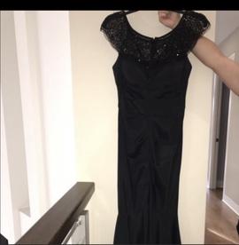 Xscape Black Size 4 Cap Sleeve Mermaid Dress on Queenly
