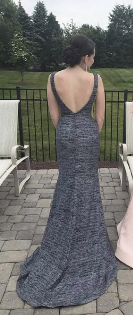 Jovani Silver Size 6 Mermaid Dress on Queenly
