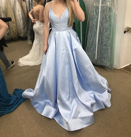 Sherri Hill Blue Size 6 Pockets Ball gown on Queenly