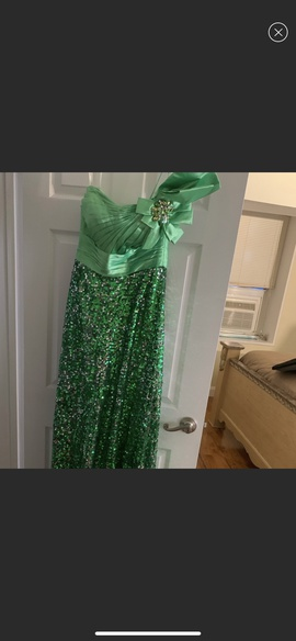 Queenly size 10 Tony Bowls Green Romper/Jumpsuit evening gown/formal dress