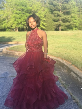 Sherri Hill Red Size 6 Ball gown on Queenly