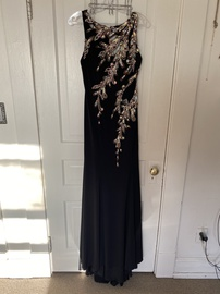 Tony Bowls Black Size 6 Sheer Straight Dress on Queenly