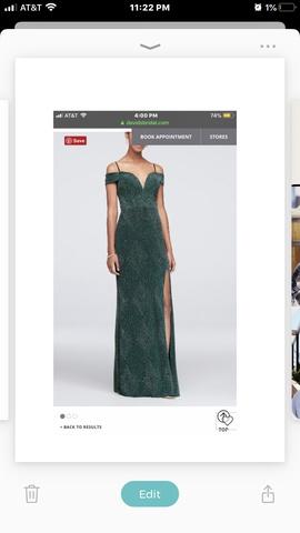 David's Bridal Green Size 2 Side slit Dress on Queenly