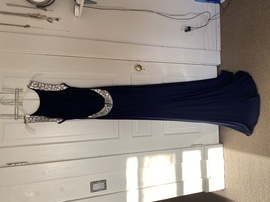 Sherri Hill Blue Size 6 Navy Straight Dress on Queenly