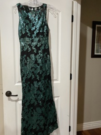 Queenly size 4 Badgely Mischka Green Straight evening gown/formal dress