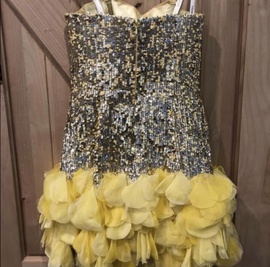 Sherri Hill Yellow Size 0 Mini Cocktail Dress on Queenly