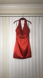 Tony Bowls Red Size 4 Halter Mini Cocktail Dress on Queenly