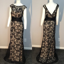 Queenly size 10 Alyce Paris Black Straight evening gown/formal dress