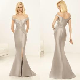 Eleni elias Silver Size 14 Side Slit Plus Size Mermaid Dress on Queenly