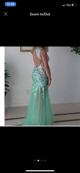 Alyce Paris Light Green Size 2 Jewelled Sequin Straight Dress on Queenly