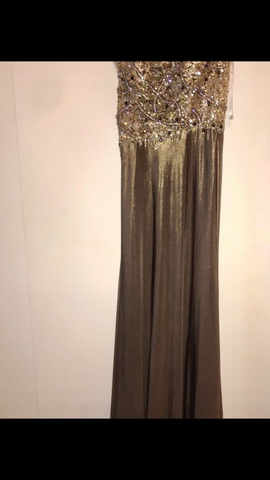 Queenly size 2  Gold Train evening gown/formal dress