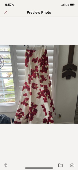 Jovani Red Size 2 Sheer Mermaid Dress on Queenly