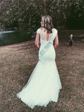 Sherri Hill White Size 8 Wedding Mermaid Dress on Queenly