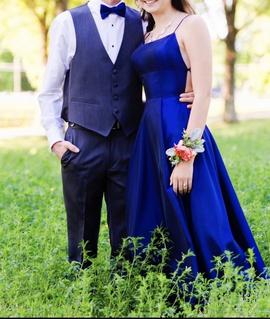 Sherri Hill Blue Size 0 Medium Height A-line Dress on Queenly