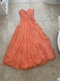 Queenly size 0  Orange A-line evening gown/formal dress