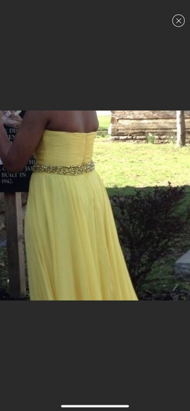 Sherri Hill Yellow Size 12 Prom Plus Size A-line Dress on Queenly
