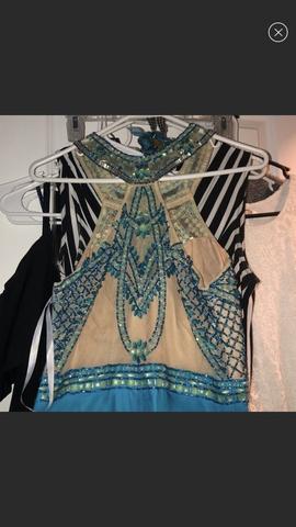 Rachel Allan Blue Size 4 Mini Straight Dress on Queenly