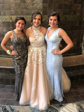 Sherri Hill Nude Size 10 Prom Ball gown on Queenly